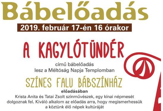 Bábszínház Kispesten 2019. február 17-én 16 órakor