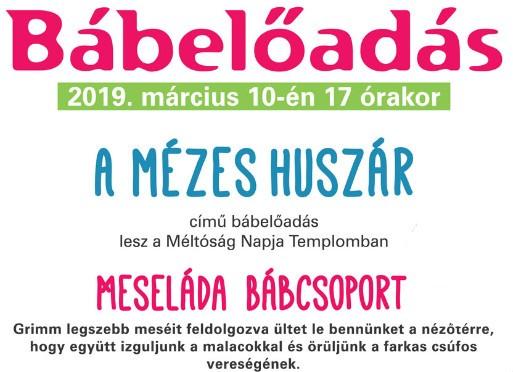 Bábszínház Kispesten 2019. március 10-én 17 (!!!) órakor